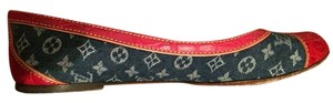 Louis Vuitton Red and Blue Flats