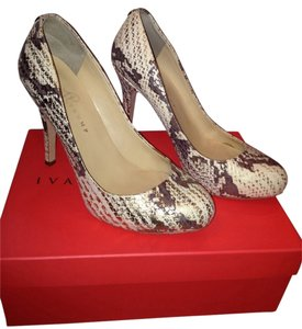 Ivanka Trump Gold Embossed Snake Pumps