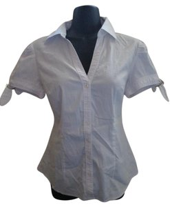 Express Career Stretchy Job Work Button Down Shirt White