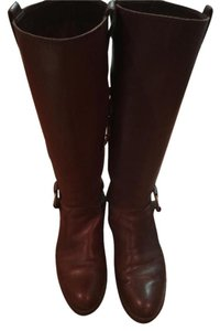 Franco Sarto Leather Harness Riding Brown Boots