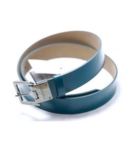 Burberry NWT Authentic Dark Turquoise Polished Leather Belt size 110 MSRP $360