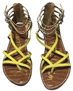 Sam Edelman Zebra and yellow Sandals
