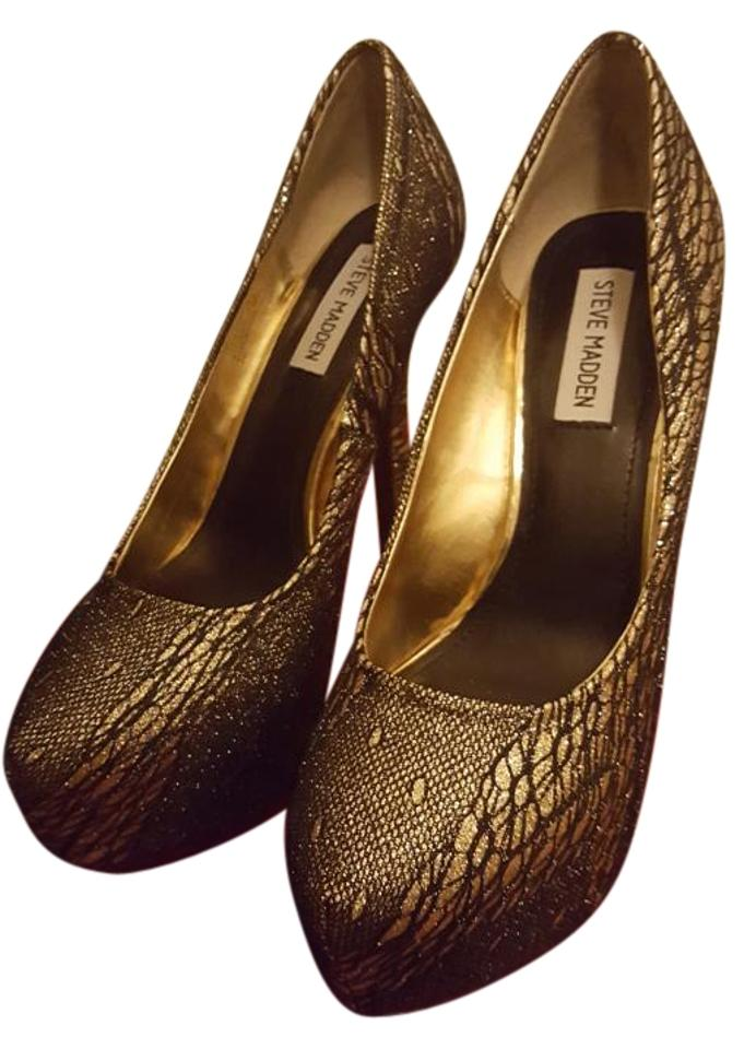 d7f2c2dee54 Steve Madden Metallic Gold and Black Dejavu Pumps Size US 9 Regular ...