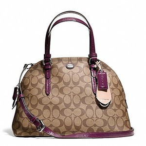 Coach Fall Purple Monogram Satchel