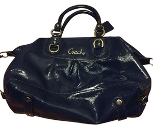 Coach Handbag Patent Leather Satchel in Cobalt