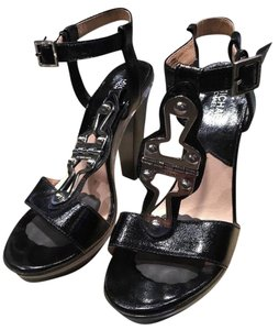 Michael Kors Sandals Michael Club Wear Heels Black and Silver Platforms