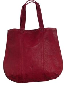 Alternative Apparel Tote in Dark Red, tag says Wine