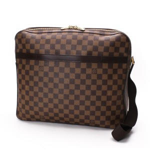 Louis Vuitton Laptop Computer Case Damier Ebene Travel Bag