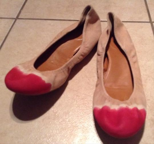 Anthropologie Hand painted Neutral Flats