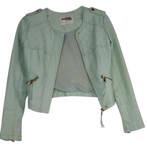 Charlotte Russe Polyester Rayon Mint Green Leather Jacket
