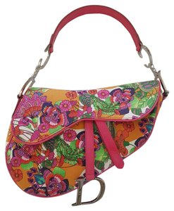 Dior Saddle Multicolor Canvas Impirimee Shoulder Bag