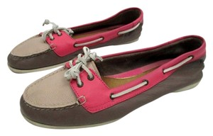 Sperry Pink, Taupe Flats
