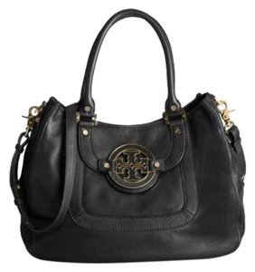 Tory Burch Leather Long Strap Hobo Bag
