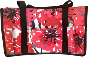 Tote in Pink, Red, Black, and White