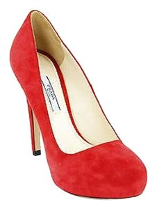 Prada Used Eu 8 Us Womens red Pumps