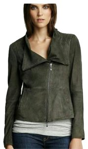 Vince Olive green/grayish Leather Jacket