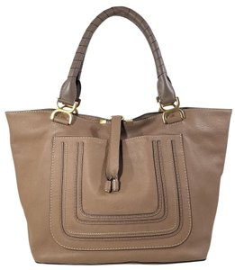 Chloé Italian Leather Tote in Nut