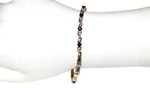 Other 10K SOLID YELLOW GOLD BRACELET WITH ONYX STONE