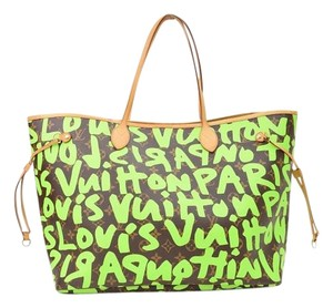 Louis Vuitton Neverfull Sprouse Tote in Graffiti Green