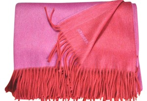Hermès Hermes Red/Pink, Double-Sided Cashmere Trow, Blanket (62