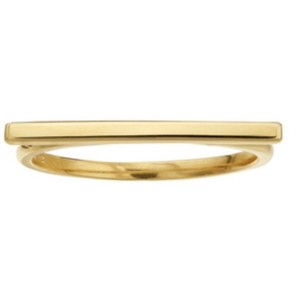 14k gold bar ring 14k Gold Bar Ring