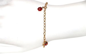 10K SOLID YELLOW GOLD WITH 3 LADY BUG BRACELET