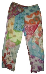 Sacred Threads Homespun Patchwork Patterned Relaxed Pants Multi-Color