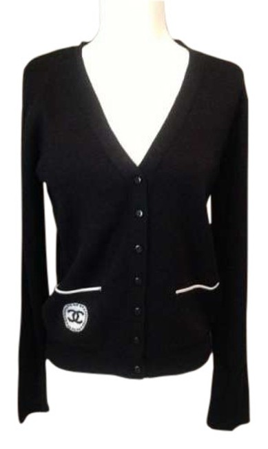 Preload https://item4.tradesy.com/images/chanel-black-cardigan-size-4-s-195223-0-0.jpg?width=400&height=650