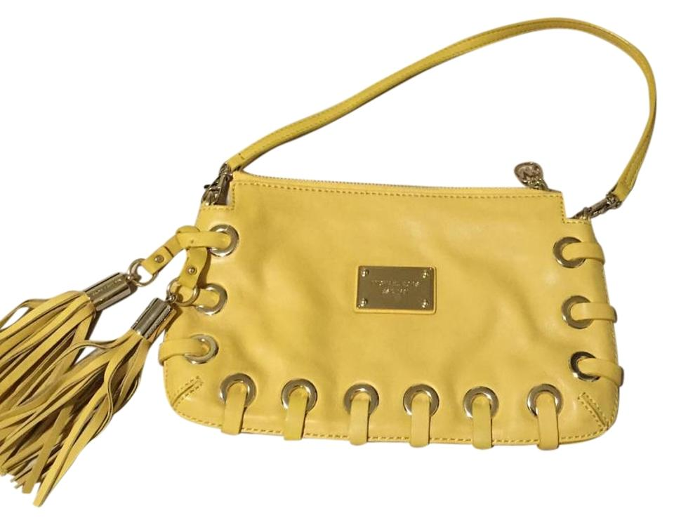 0a5ebb027a1eba MICHAEL Michael Kors Mk / Shoulder Yellow Clutch - Tradesy