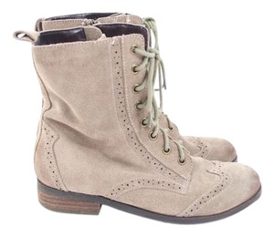 Dolce Vita Taupe Suede Lace Up Boots
