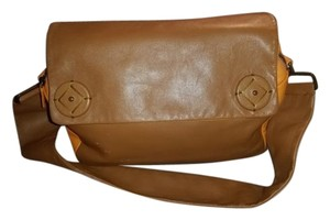 Prada Orange And Brown Nappa Leather Shoulder Bag