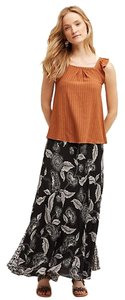 Anthropologie Silk Anthro Hd In Paris Maxi Skirt Black