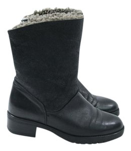 Le Canadienne Leather Black Ankle Block Boots