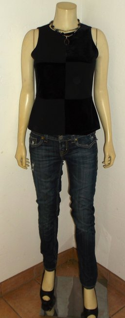 Laundry by Shelli Segal Size 6 P1228 Top black Image 3