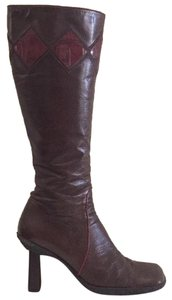 Hugo Boss Dark brown and burgundy Boots