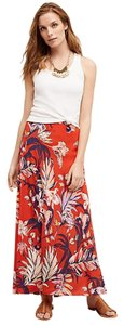 Anthropologie Silk Anthro Hd In Paris Maxi Skirt Red
