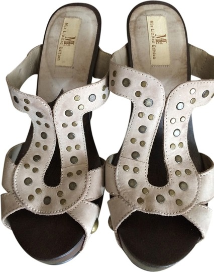 MIA Studded Leather Natural Mules