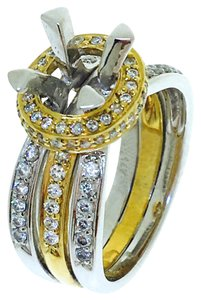 Other 14K White / Yellow Gold Diamonds Ring Holder
