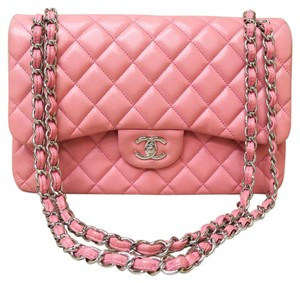 Chanel Lambskin Jumbo Satchel in pink