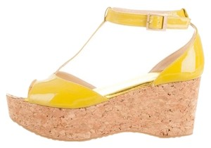 Jimmy Choo Lime-Yellow Wedges