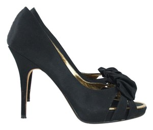 Steven by Steve Madden Black Peep Toe Pump Heels Pumps
