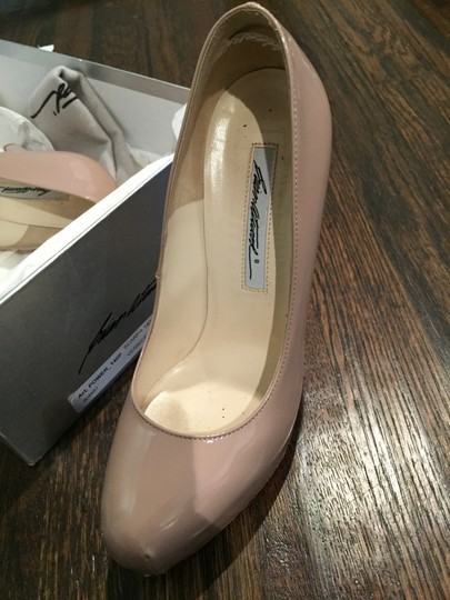 Brian Atwood Patient Leather Heels Nude Pumps