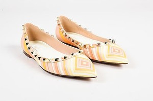 Valentino Multi Stripe Orange Flats