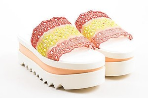 Stella McCartney Pink Yellow Multi-Color Sandals