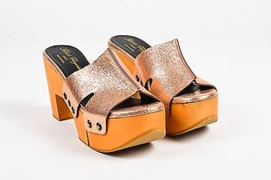 Robert Clergerie Rose Gold Pink Sandals