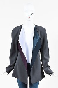 Narciso Rodriguez Narciso Rodriguez Gray Wool Colored Lapel Blazer Jacket