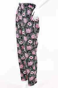 Marni Black Pink Green Floral Print Trousers Pants
