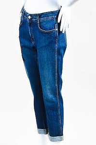 Stella McCartney Denim Embroidered Panther Straight Leg Jeans