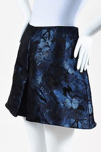 Valentino Navy Black Silk Shorts Blue