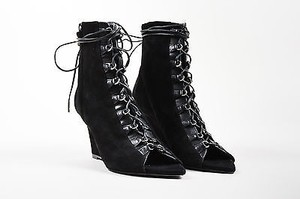 Narciso Rodriguez Suede Black Boots